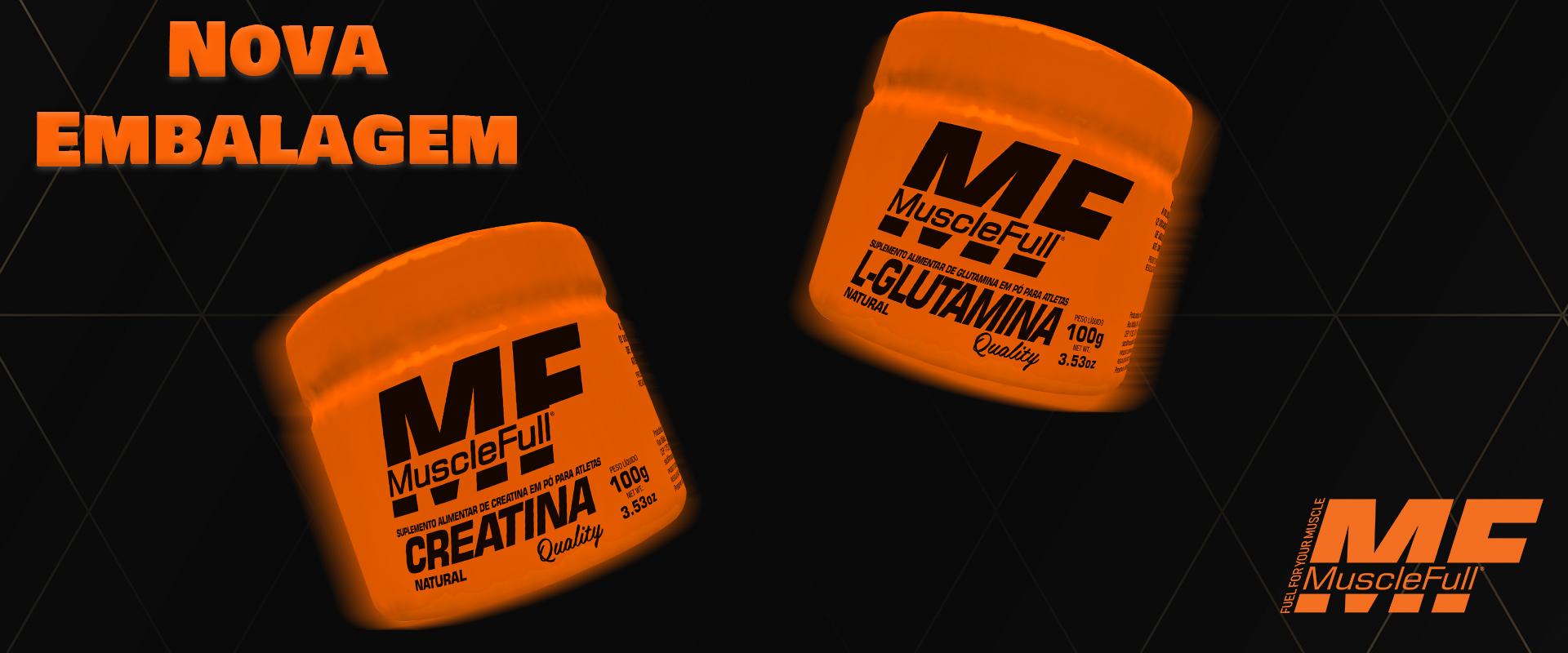 Lançamento Glutamina e Creatina Quality