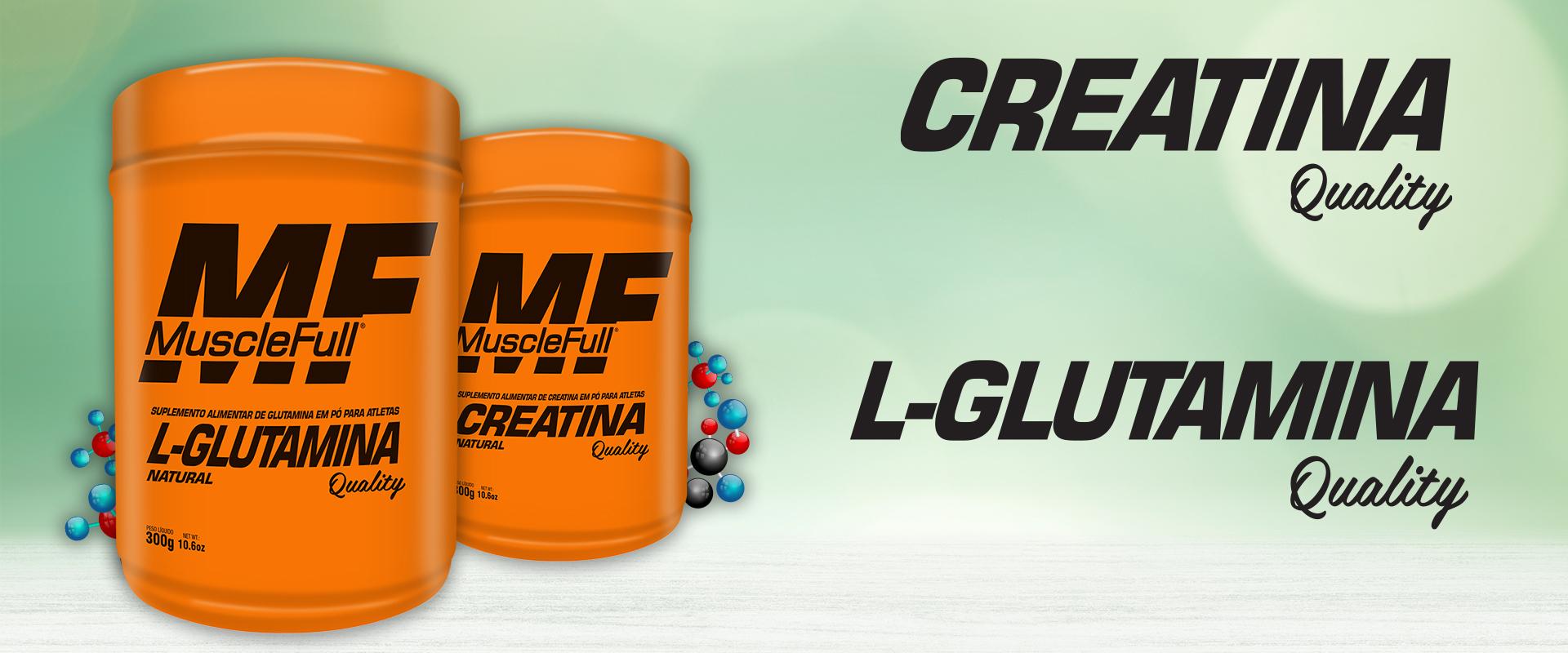 Glutamina e Creatina Quality
